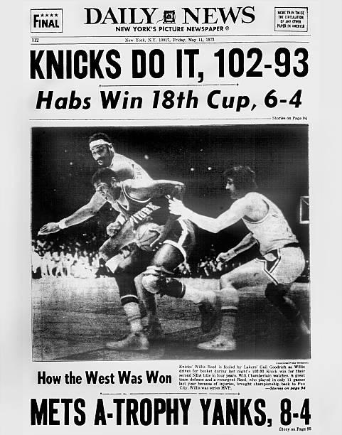 Daily News back page May 11, 1973, Headline: KNICKS DO