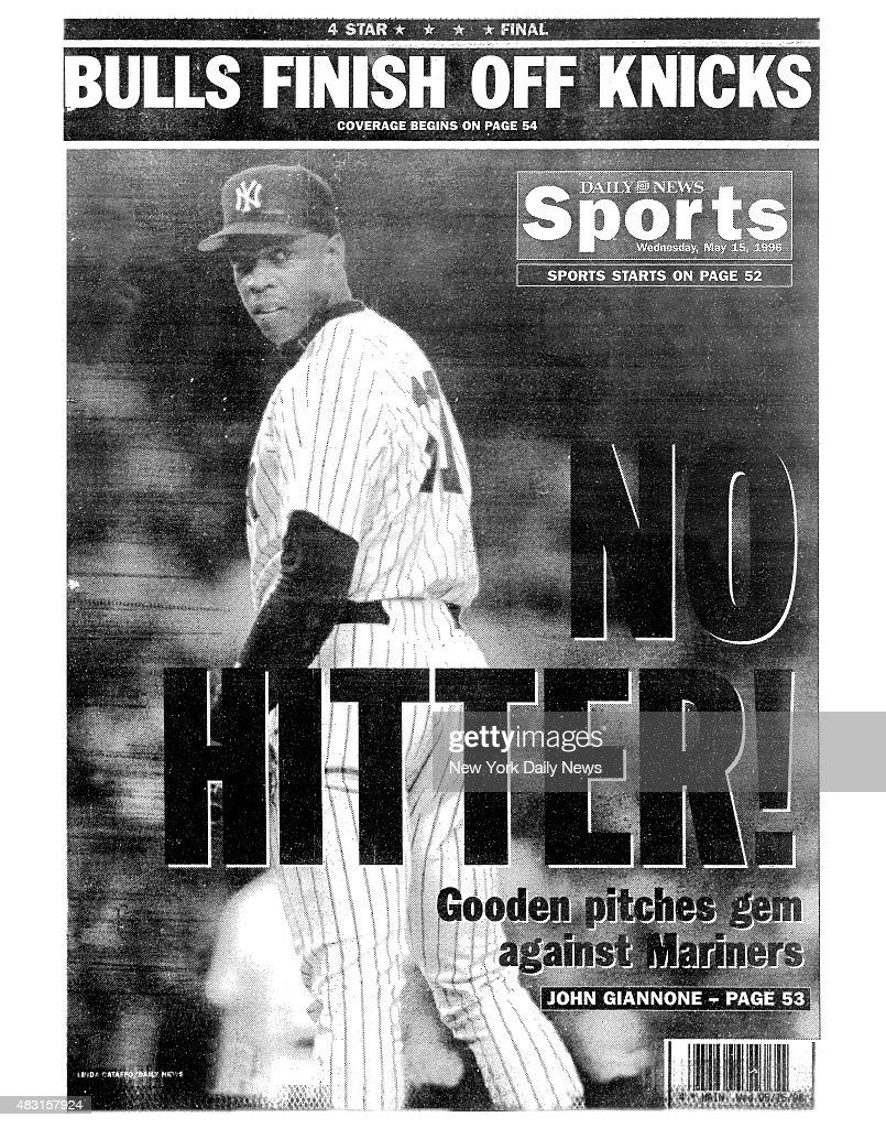 Daily News Back Page Dwight Gooden : News Photo