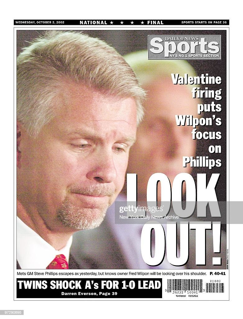 Daily News Backpage  Valentine Firing Puts Wilpons Focus On Phillips