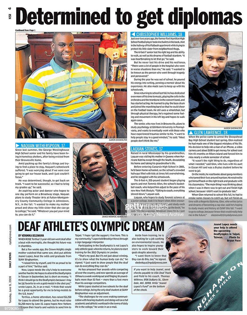 Daily News Brooklyn News page 4 KSI dated June 9, 2009, Head : News Photo