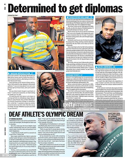 Daily News Brooklyn News page 4 KSI dated June 9 Headline Determined to get diplomas Con't from page 1 Naquan Witherspoon Christopher Williams Laquan...