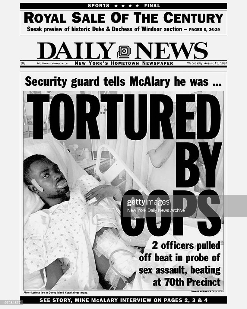 Daily News Front Page Dated August 13 1997 Headline Secur News Photo