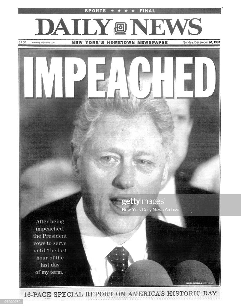 DC: 19th December 1998 - US President Bill Clinton Impeached