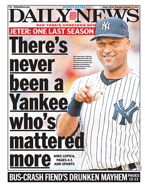 Daily News Front Page Derek Jeter