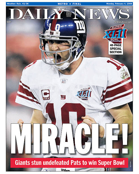 Daily News front page dated Feb. 4, 2008, Headline: MIRACLE