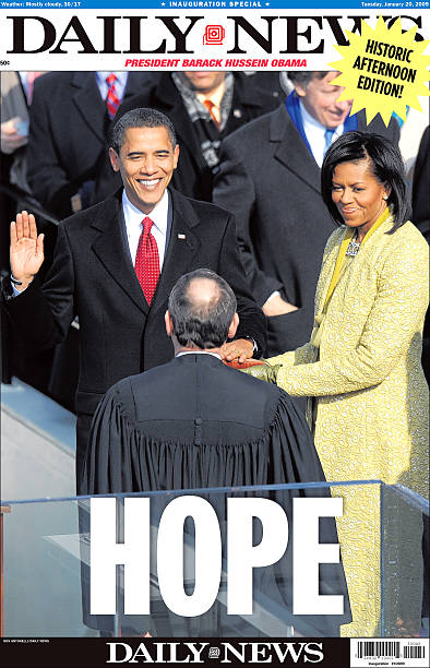 Daily News front page dated Jan. 20, 2009, Headline: HOPE, P