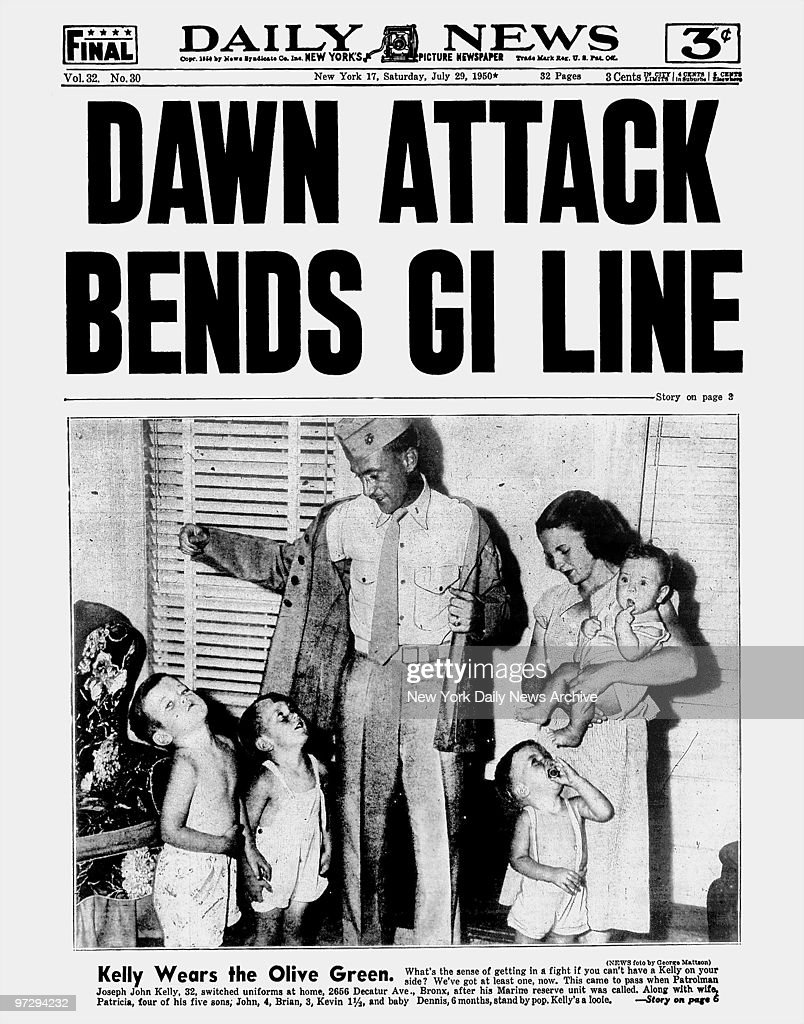 Daily News front page July 29 Headline: DAWN ATTACK BENDS GI