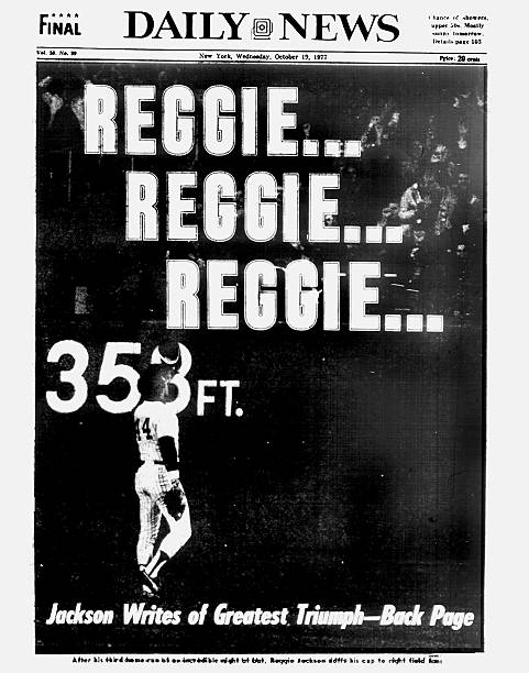 Daily News Front page October 19, 1977, Headlines: REGGIE