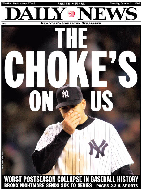 Front page of the New York Daily News for October 21, 2004 He