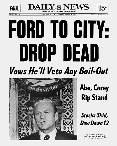 Daily News Front page dated Oct. 30, 1975 Headlines: FORD TO