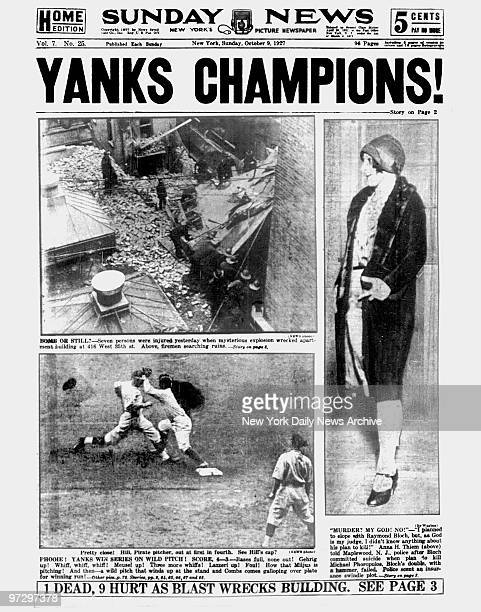 Daily News front page October 9 Headlines YANKS CHAMPIONS New York Yankees win the World Series