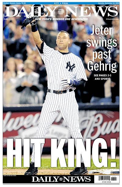Daily News September 12, 2009, HIT KING!, Jeter Swi