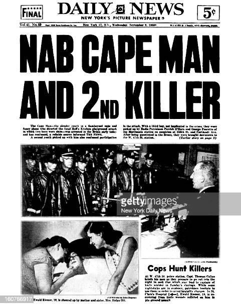 Daily News front page September 2 1959 Headline NAB CAPE MAN AND 2ND KILLER The Cape Man the slender yourth in a flamboyant cape and fancy shoes who...
