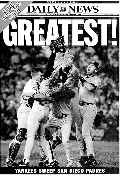 Daily News front page wrap dated Oct. 22, 1998, GREATEST!, N