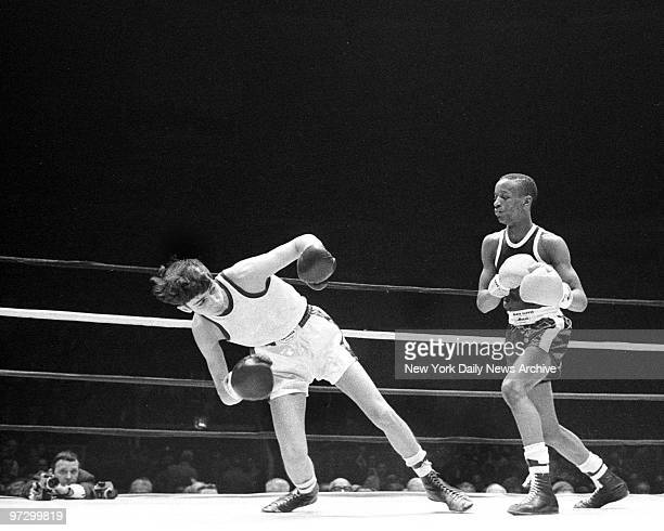 Daily News Golden Gloves Finals at Madison Square Garden Dominick Frazia suddenly get feeling that the action is all onesided in 106pound Open Golden...