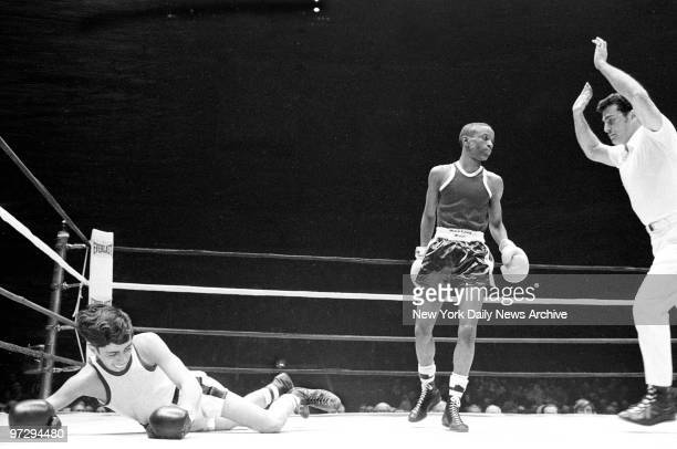 Daily News Golden Gloves Finals at Madison Square Garden It's 124 of the stanze and Dominick Frazia struggles to get back on his feet But the dreams...