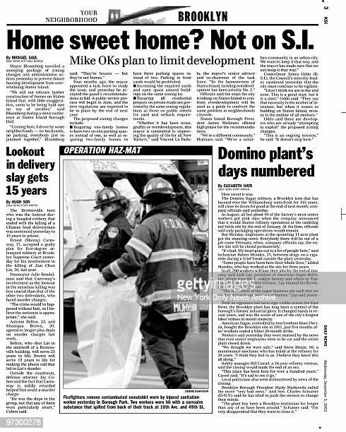Daily News KSI page 3 December 3 Headline Home sweet home Not on SI Mike OKs plan to limit development subheadline Lookout in delivery slay gets 15...