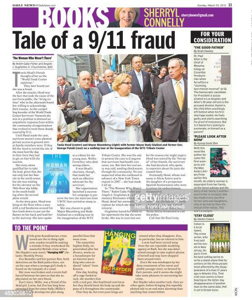 Daily News page 13 March 25 Headline Tale of a 9/11 fraud 'The Woman Who Wasn't There' Tania Head