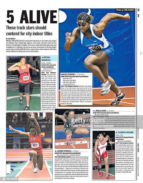 Daily News page 25 dated Dec 9 5 ALIVE Thest track stars should contend for city indoor titles Brittany Broomfield is a Sophmore at Clinton High...