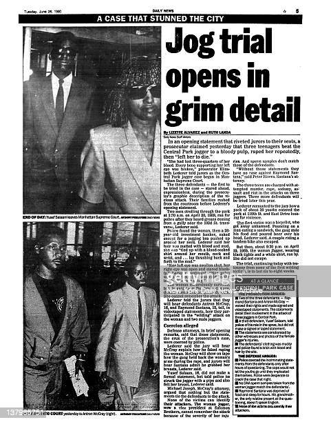 Daily News page 5 dated June 26 1990 A Case That Stunned The City Jog trial opens in grim detail End of Day Yusef Salaam laeves Manhattan Supreme...