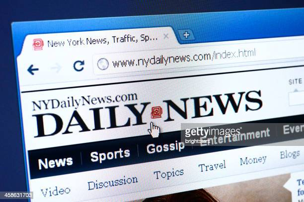 Daily News webpage on the browser