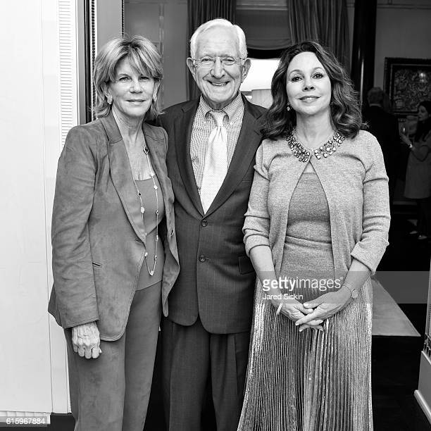 Image was shot in black and white Color version not available Angela Kumble Steve Kumble and Lisa Cohen attend the Galerie Magazine Event for...