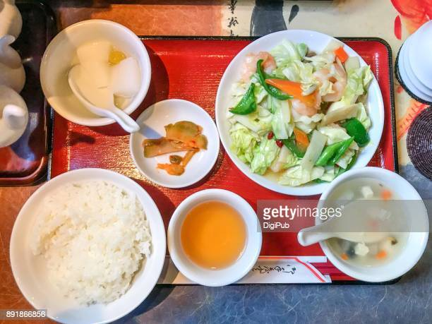 Daily personal perspective view, Chinese style lunch meal in Tokyo
