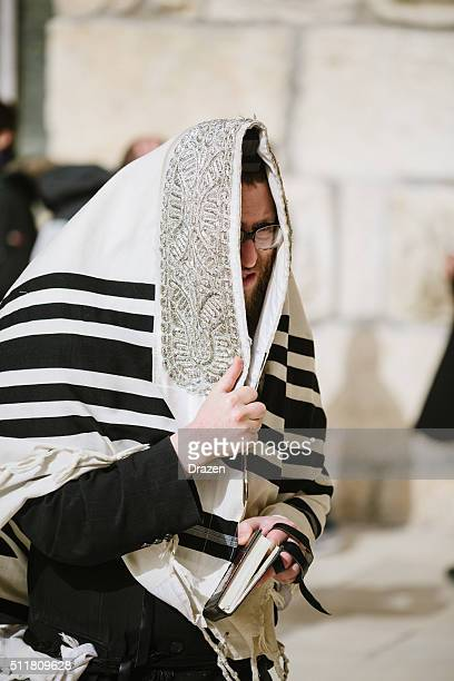 daily prayer at western wall, old city, jersalem, israel - wailing wall stock pictures, royalty-free photos & images