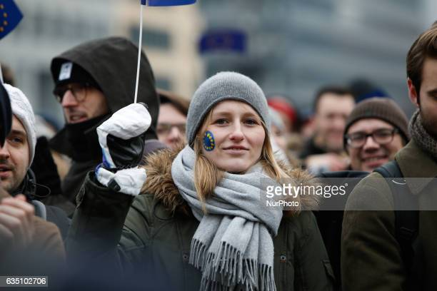 Daily scenes are seen in Berlin on 13 February 2017
