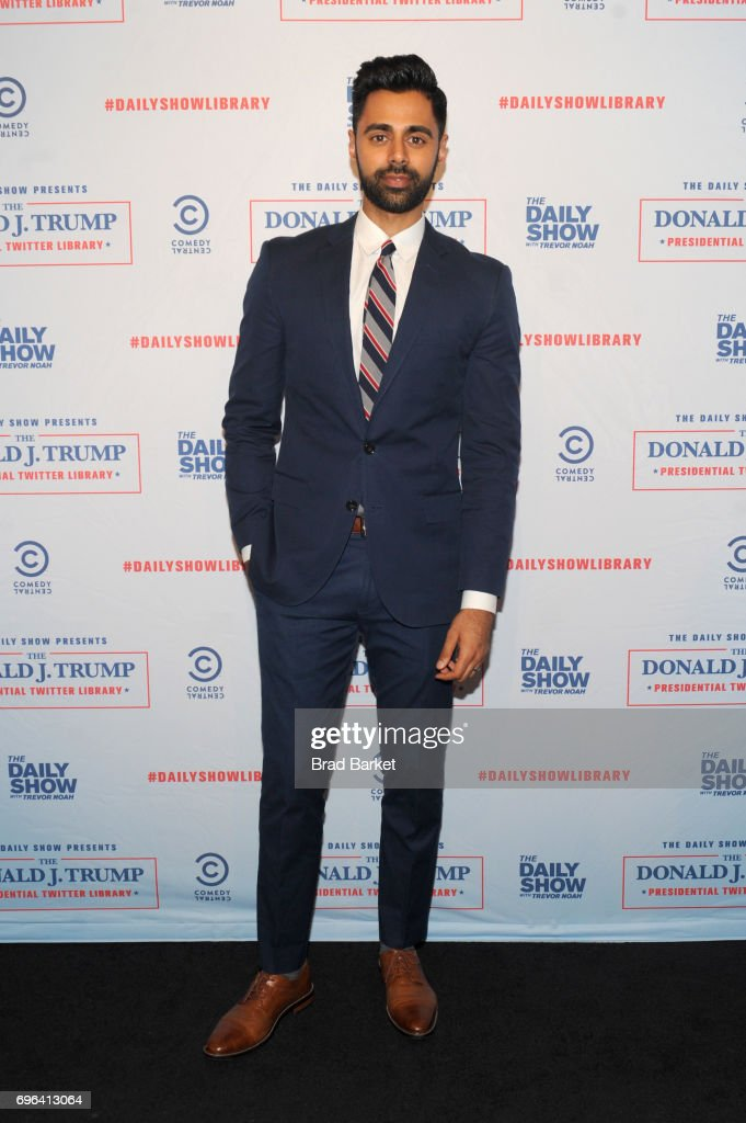 Daily Show Correspondent Hasan Minaj attends the The Donald J. Trump Presidential Twitter Library Opening Reception presented by Comedy Central's The Daily Show on June 15, 2017 in New York City.