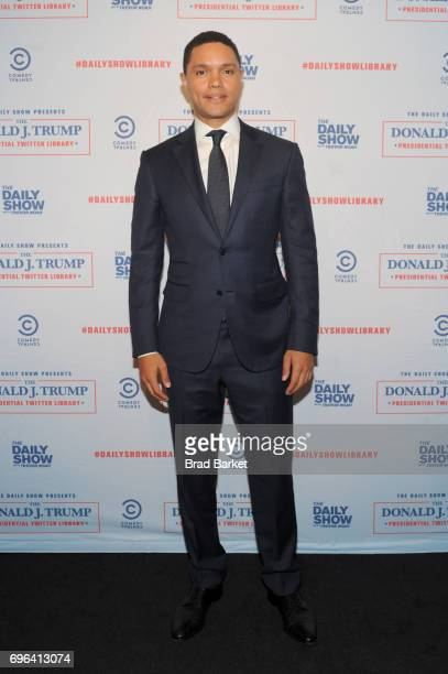 Daily Show Host Trevor Noah attends the The Donald J Trump Presidential Twitter Library Opening Reception presented by Comedy Central's The Daily...