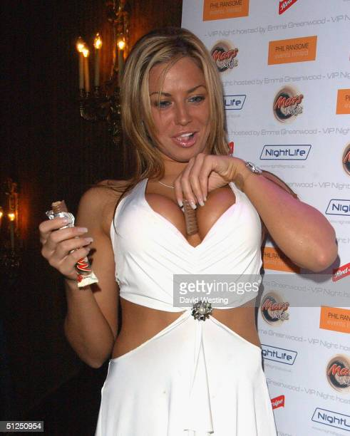 Daily Sport Model Louise Glover arrives at the Big Brother V Reunion Party thrown by housemate Emma Greenwood at Cafe de Paris on August 31 2004 in...