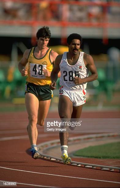 Daily Thompson of Great Britain in action during the Decathlon event at the 1982 Commonwealth Games in Brisbane Australia Mandatory Credit Allsport...