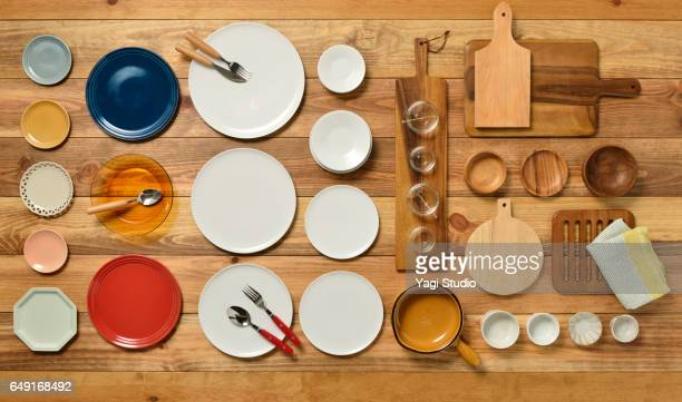 daily use yard knolling style - cooking utensil stock photos and pictures
