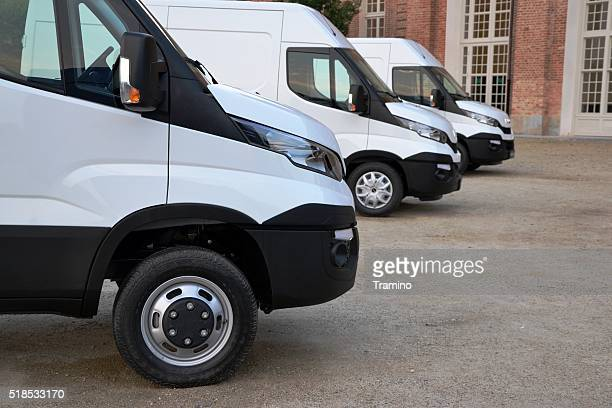 IVECO Daily vehicles in a row