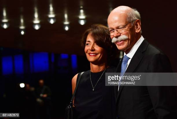 Daimler AG Chief Executive Officer Dieter Zetsche and his French wife Anne arrive for the opening of the Elbphilharmonie concert hall in Hamburg...