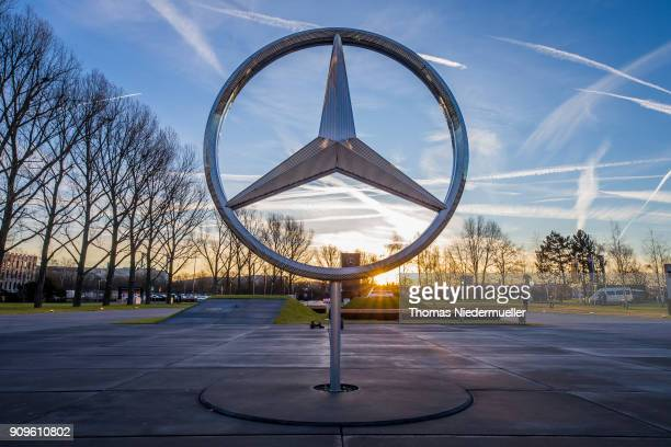 Daimler AG MercedesBenz emblem is seen at the MercedesBenz plant on January 24 2018 in Sindelfingen Germany Daimler AG which owns the MercedesBenz...