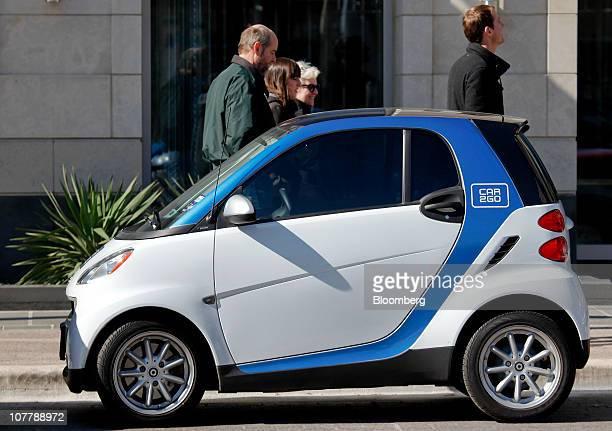 Daimler AG Smart car that is part of the Car2go auto sharing program sits parked in Austin, Texas, U.S., on Sunday, Dec. 26, 2010. Daimler's Car2go...