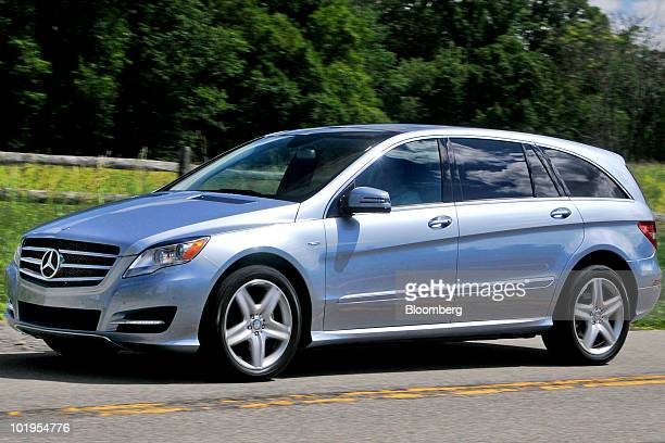 Daimler AG's MercedesBenz 2011 R350 BlueTec 4MATIC crossover vehicle is driven in Pocantico Hills New York US on Tuesday June 8 2010 The car goes on...