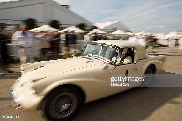Daimler SP250 Fordwater Trophy race at The Goodwood Revival Meeting 15th Sept 2013