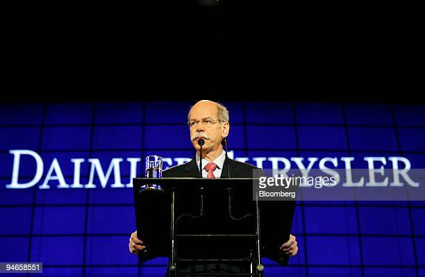 DaimlerChrysler AG Chief Executive Officer Dieter Zetsche prepares to speak at the company's annual general meeting in Berlin, Germany, on Wednesday,...