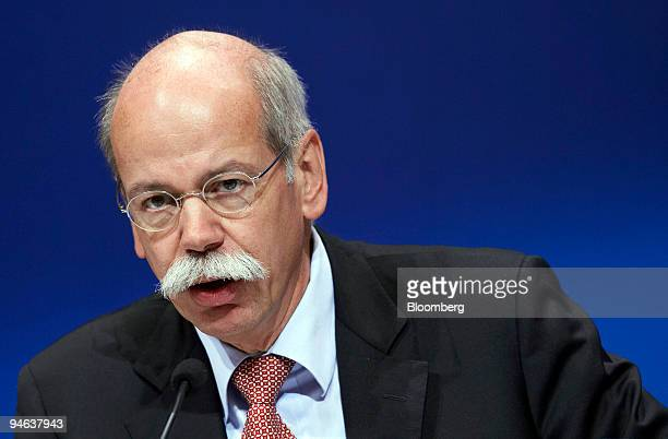 DaimlerChrysler Chief Executive Officer Dieter Zetsche speaks at a press conference in Stuttgart, Germany, Monday, May 14, 2007. DaimlerChrysler AG...
