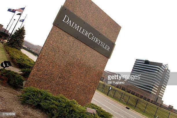 DaimlerChrysler headquarters is shown December 8 2003 in Auburn Hills Michigan DaimlerChrysler unveiled its new 'Stow 'N Go' feature of the new 2005...