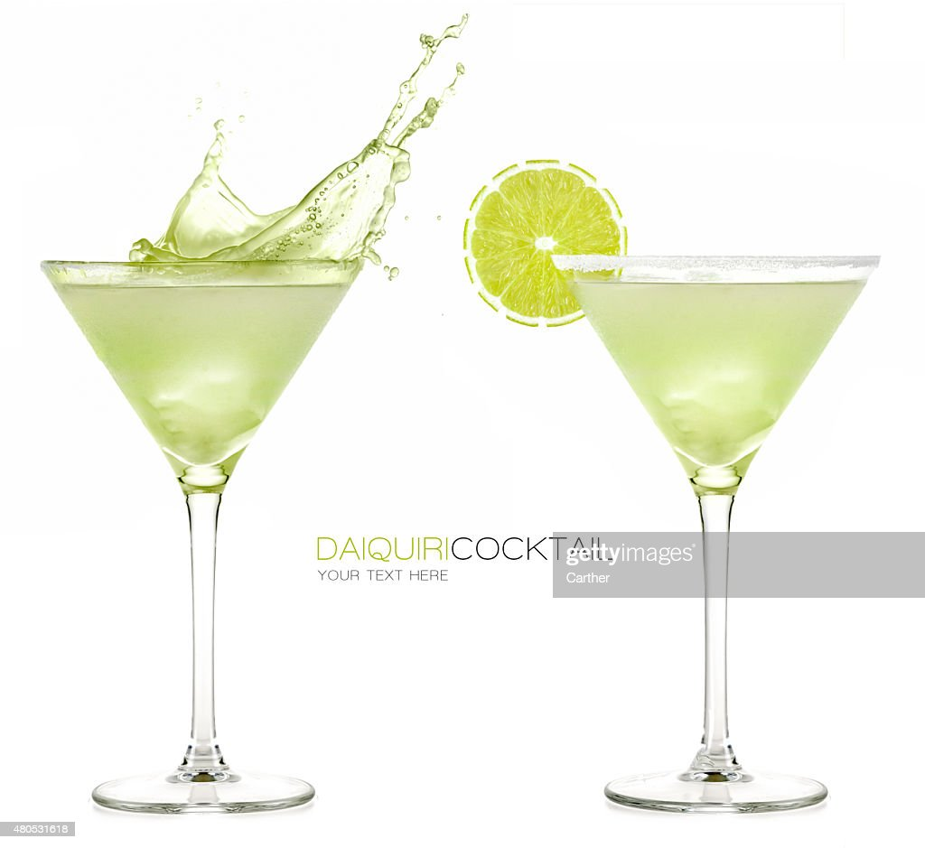 Daiquiri Frozen Cocktail. Splashes : Bildbanksbilder