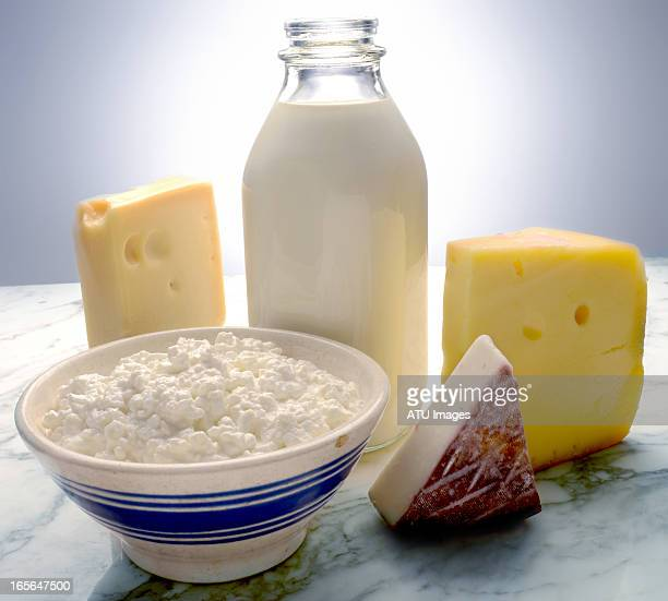 dairy on marble - dairy product stock pictures, royalty-free photos & images