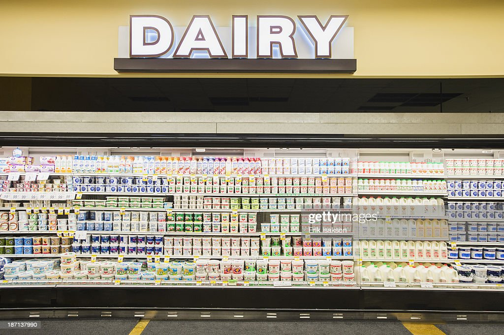 Dairy Section Of Grocery Store Stock Photo | Getty Images