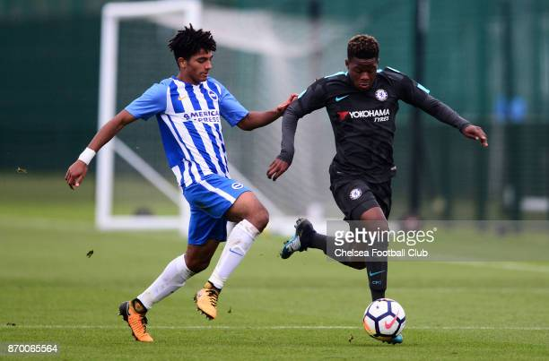 Daishawn Redan of Chelsea during a Premier League Cup match between Brighton Hove Albion and Chelsea on November 4 2017 in Brighton England