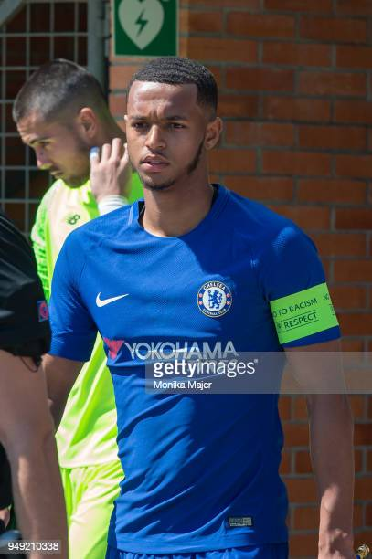 Daishawn Redan of Chelsea FC looks on during the semifinal football match between Chelsea FC and FC Porto of UEFA Youth League at Colovray Sports...