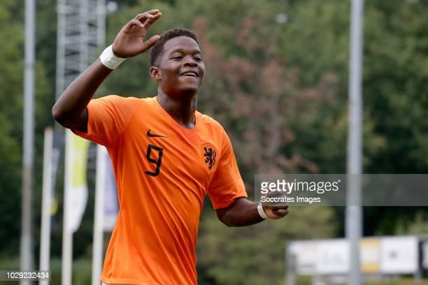 Daishawn Redan of Holland U19 celebrates 10 during the match between Holland U19 v Czech Republic U19 at the Sportpark Parkzicht on September 8 2018...