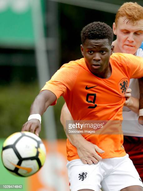 Daishawn Redan of Holland U19 Daniel Finek of Czech Republic U19 during the match between Holland U19 v Czech Republic U19 at the Sportpark Parkzicht...